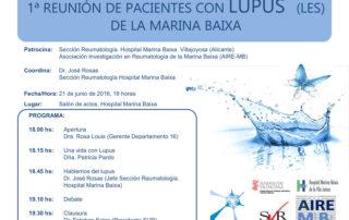 1ª reunión de pacientes con Lupus (LES) de la Marina Baixa